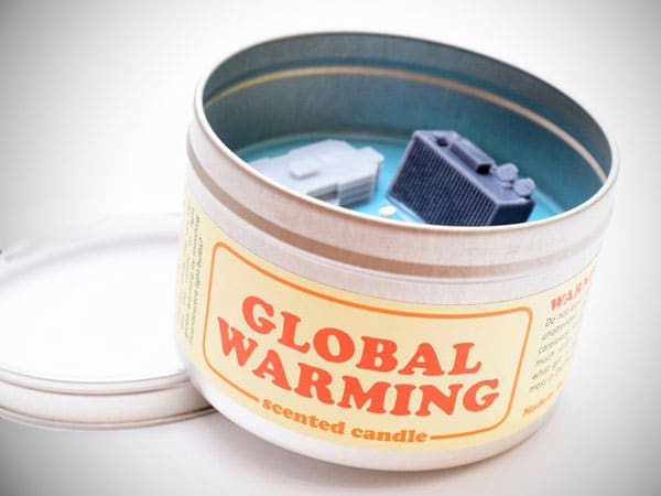 Global Warming-Scented Candle