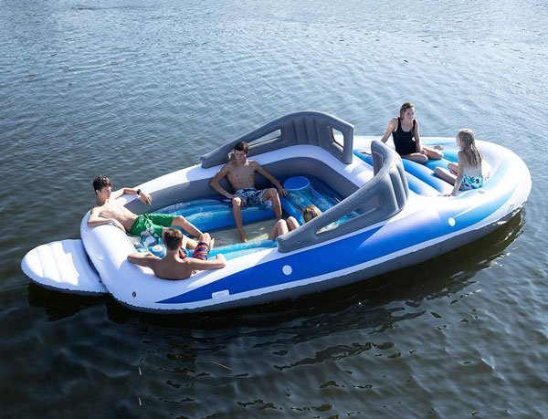 Life-Sized Inflatable Speed Boat