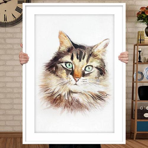 Personalized Custom Cat Portraits