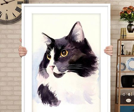 Personalized Custom Cat Portraits