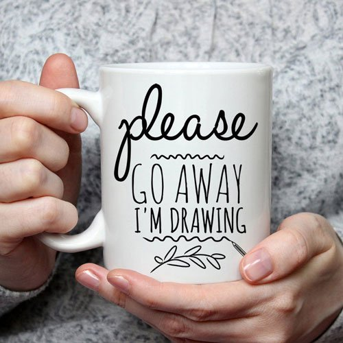 Please Go Away I am Drawing Coffee Mug