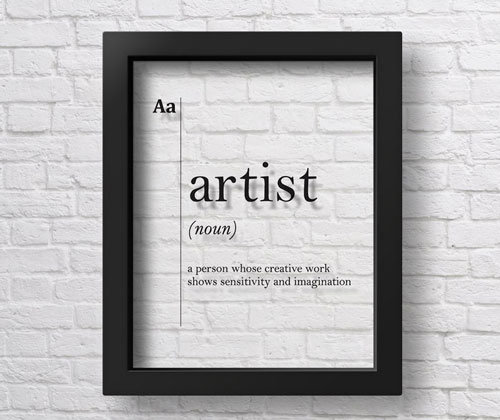 Transparent Artist Definition Wall Art