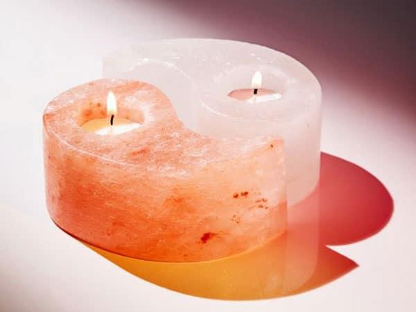 Yin Yang Tea Light Candle Holder Set