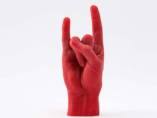 You Rock Hand Gesture Candle