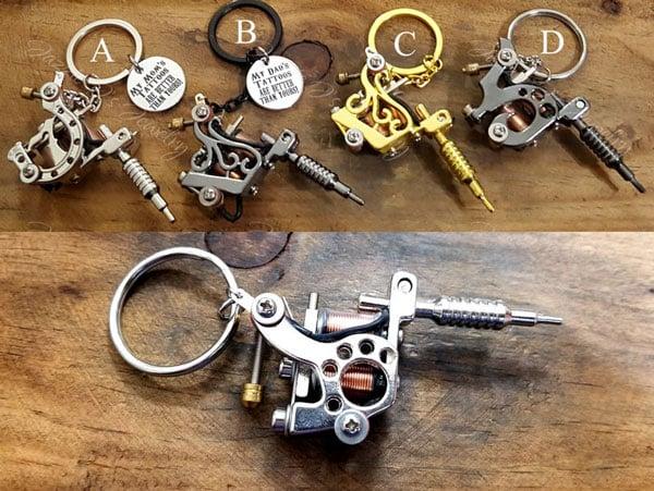 3D Tattoo Gun Keychain