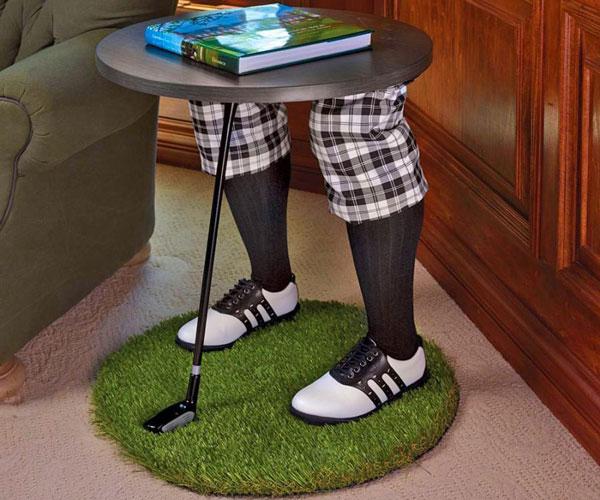 Creepy Golfing Legs Side Table