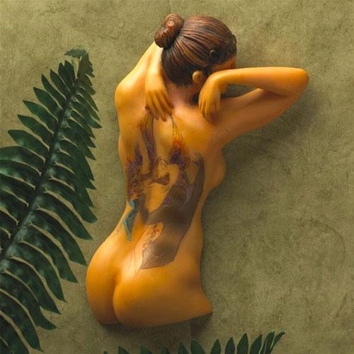 Fairy Maiden Tattooed Wall Decor