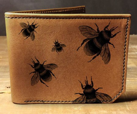 Mens Leather Bees Wallet