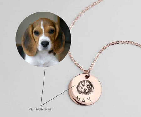 Personalized Custom Pet Portrait Dog Necklace