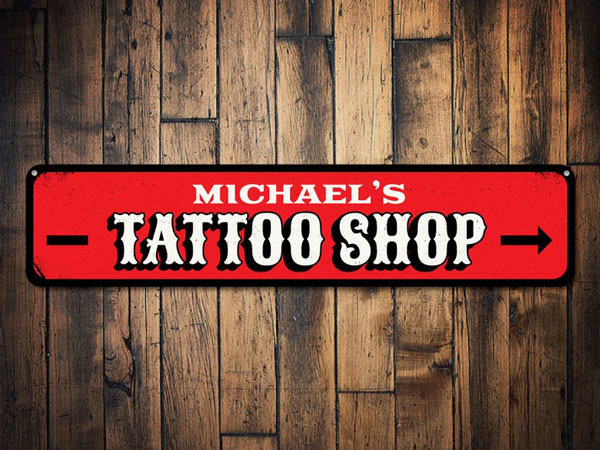 Personalized Tattoo Artist Shop Sign