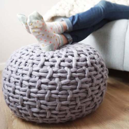 Plympton Hand Knitted Footstool