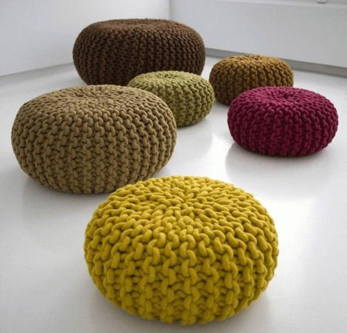 Stuffed Merino Wool Floor Pillows