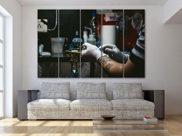 Tattoo Artist Canvas Abstraction Print