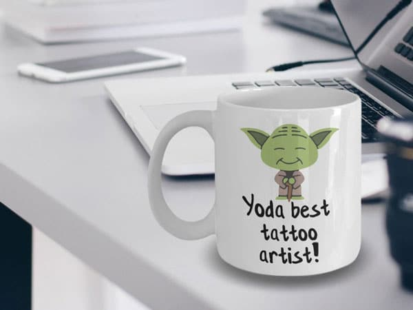 Yoda Best Tattoo Artist Mug