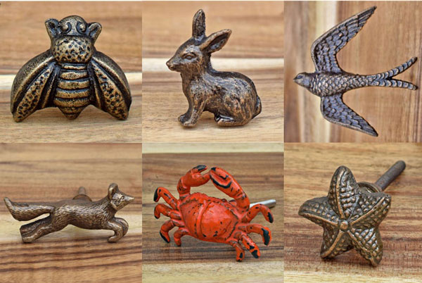 Antique Animal Bird & Insect Knobs - Unique Drawer Pulls