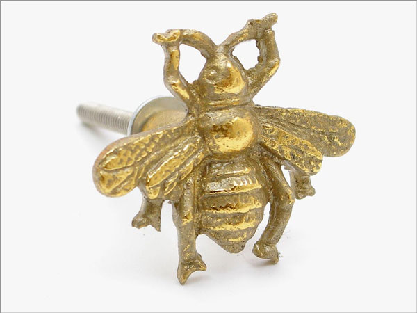 Antique Brass Cute Bee drawer handle