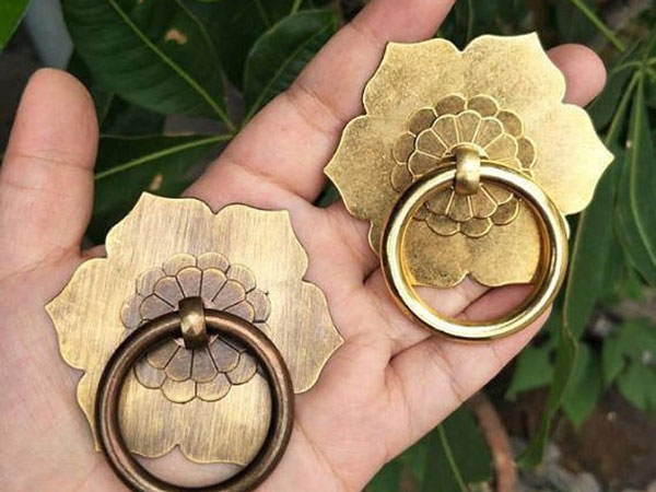 Antique Bronze Back Plate Drop Ring Pulls