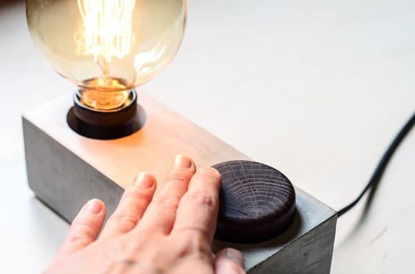 Concrete Edison Dimmer Lamp
