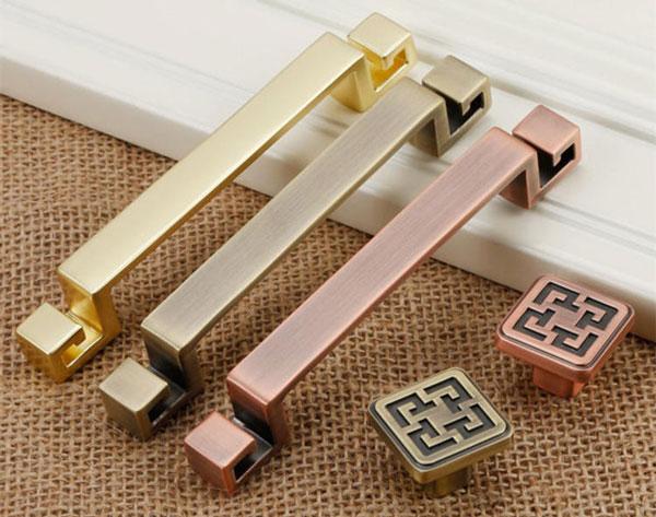 Copper, Bronze & Brass Vintage Dresser Pulls - Unique Drawer Pulls