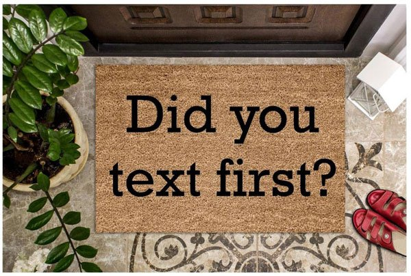 Did You text First Doormat