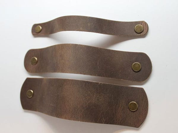 Handcrafted Distressed Leather - Unique Drawer Pulls