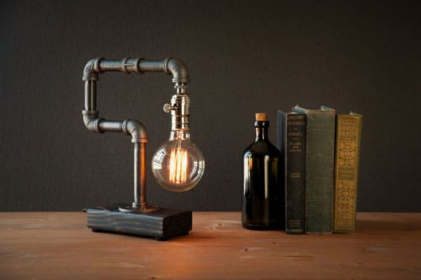 Industrial Steampunk Style Table Lamp