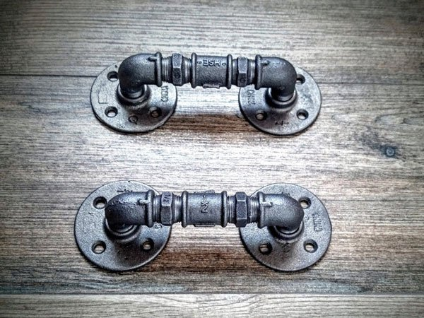 Industrial Steampunk drawer handles - Unique Drawer Pulls