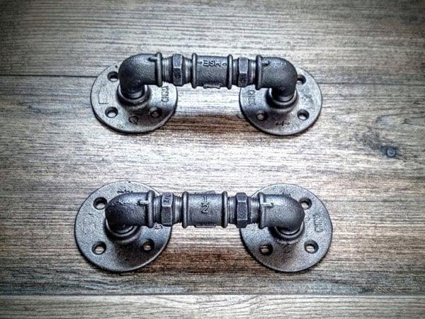 Industrial Steampunk drawer handles - Unique Drawer Pulls