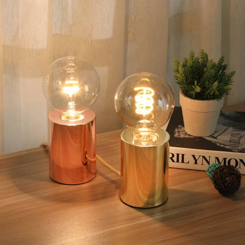 Rose Gold Cylinder Table Lamps