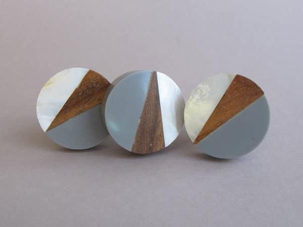 Round Geometric Fusion knobs - Unique Drawer Pulls