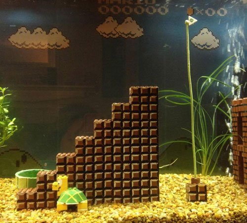 Super Mario Aquarium Pieces
