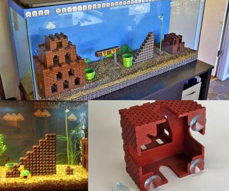 Super Mario Aquarium Pieces