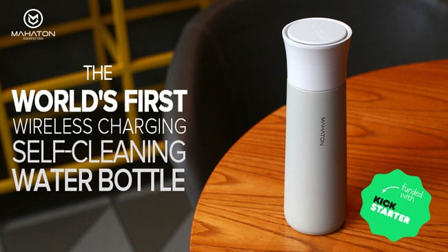 The Mahaton Self-Cleaning Water Bottle