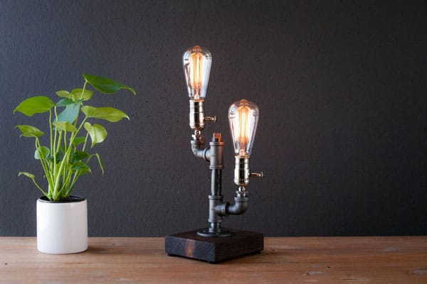 Twin Bulb Industral Lamp