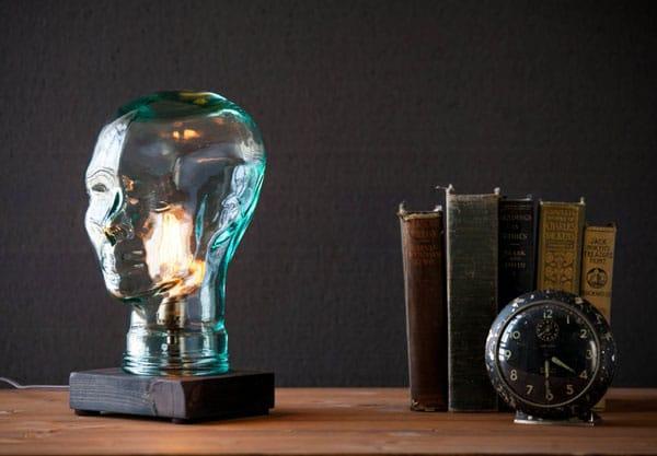 Unique Glass Head Lamp