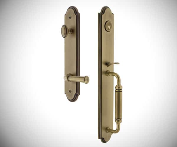 Arc C Grip with Georgetown Lever - Modern Front Door Handles