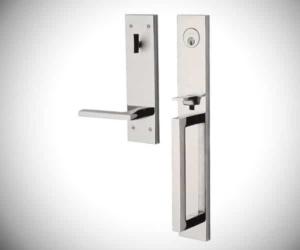 Estate Minneapolis Single Cylinder Handleset  - Modern Front Door Handles