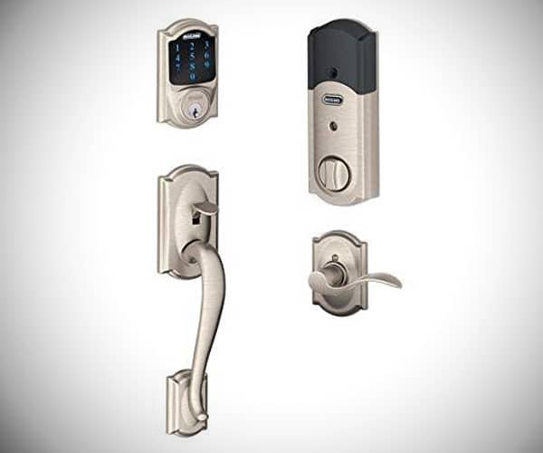 FE Series Camelot with Touchscreen Deadbolt and interior Accent Lever