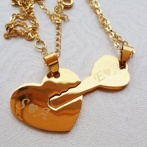 Key to My Heart Couple Necklaces