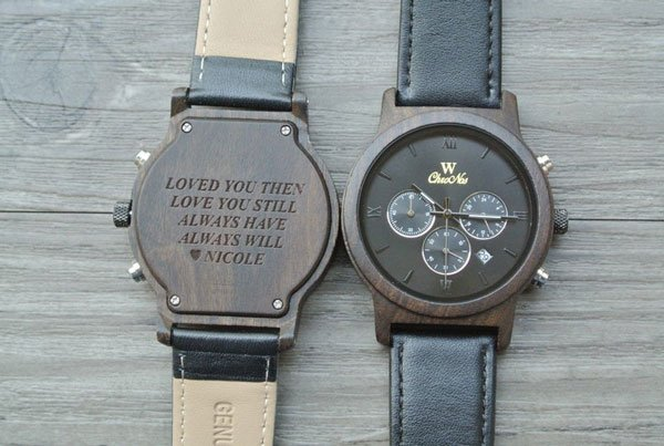 Personalized Engraved Wooden Watch