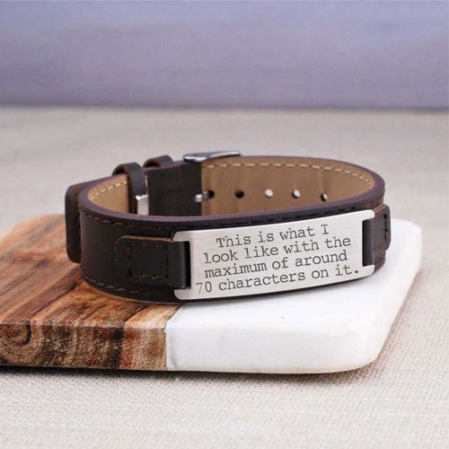 Personalized Men's Leather Bracelet