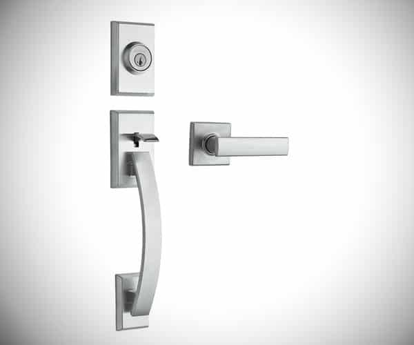 Tavaris Satin Nickel Single Cylinder Door Handleset