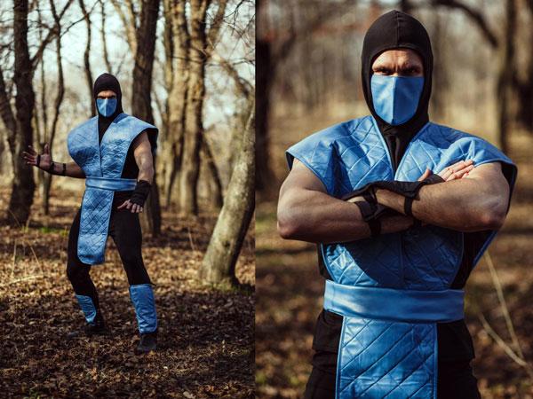 Sub Zero Mortal Kombat Cosplay Costume