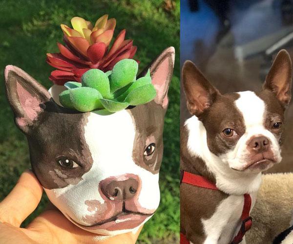 Custom Dog Planters