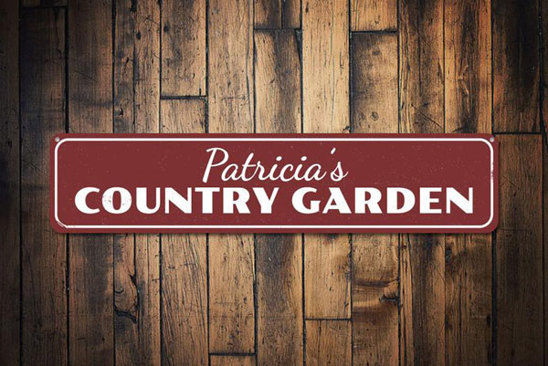 Personalized Country Garden Sign