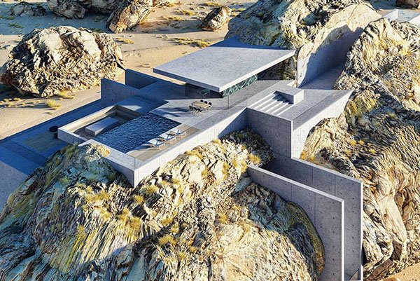 The Inside A Rock House