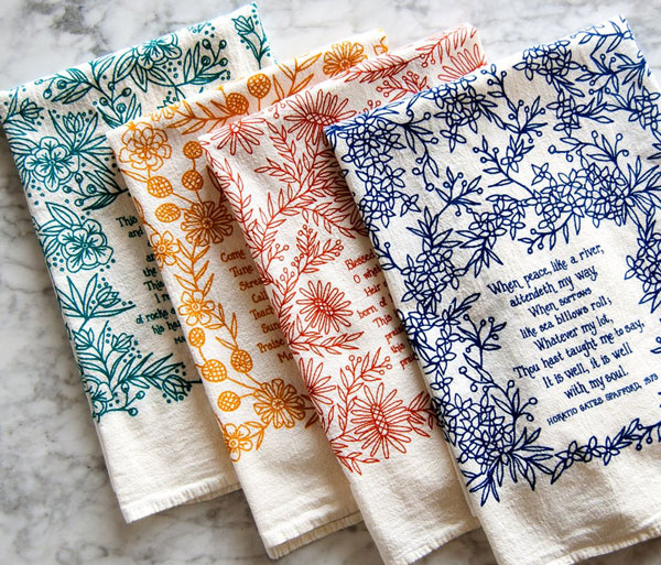 4 Hymn Tea Towels Set