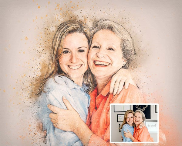 Custom Mothers Day Portrait - Unique Mother's Day Gifts