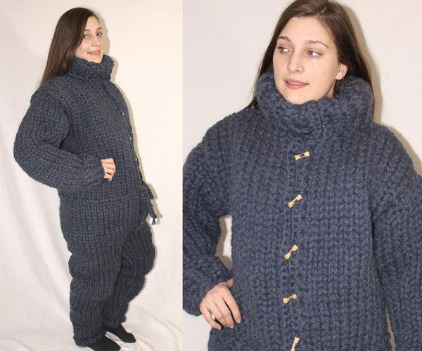 Giant Knitted Adult Onesies