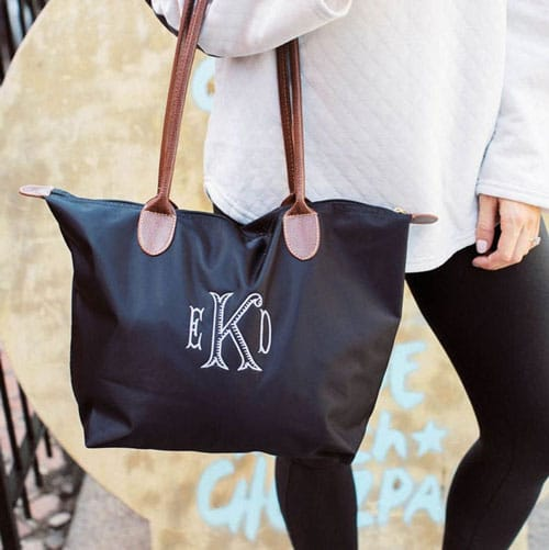Monogrammed Nylon Medium Size Tote